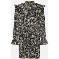 Vero Moda Curves Black Animal Print Frill Dress New Look