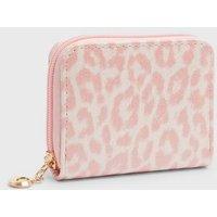 Pink Vanilla Pink Leopard Print Small Purse New Look