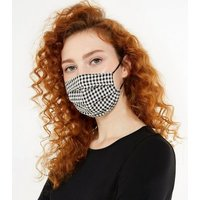 Black Gingham Reusable Face Covering New Look