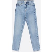 Petite Blue Light Wash Leyla Relaxed Skinny Jeans New Look