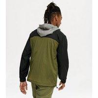 Men's Khaki Colour Block Pocket Front Jacket New Look