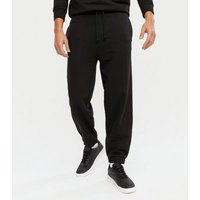 Men's Black Oversized Fit Joggers New Look
