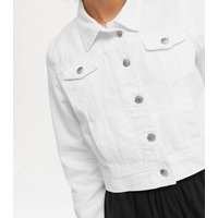 Urban Bliss Off White Twill Crop Jacket New Look