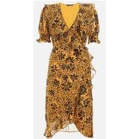 QUIZ Mustard Floral Animal Print Dress New Look