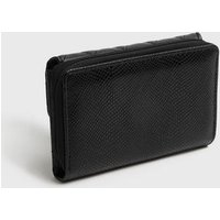 Black Quilted Leather-Look Clasp Purse New Look Vegan