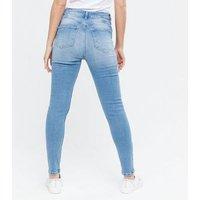 Petite Pale Blue Lift and Shape Jenna Skinny Jeans New Look