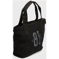 Girls Black 81 Logo Tote Bag New Look Vegan