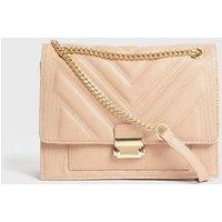Pale Pink Chevron Leather-Look Cross Body Bag New Look Vegan