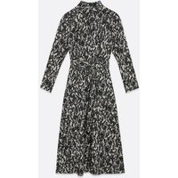 AX Paris Black Snake Print Midi Shirt Dress New Look