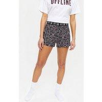 White Offline Animal Print Logo Short Pyjama Set New Look