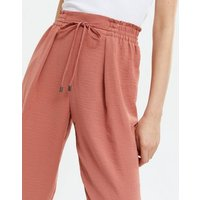 Mid Pink Textured Drawstring Joggers New Look