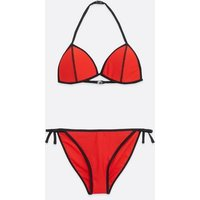 Girls Red Triangle Bikini Set New Look