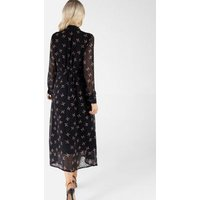 Zibi London Black Butterfly Spot Chiffon Maxi Dress New Look