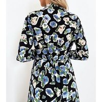 Zibi London Blue Floral Split Hem Maxi Dress New Look