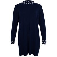 Gini London Navy Beaded Jumper Dress New Look