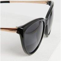 Black Metal Trim Cat Eye Sunglasses New Look