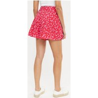 Red Floral Flippy Shorts New Look