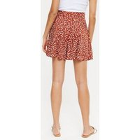 Brown Animal Print Belted Shorts New Look