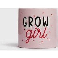 Pink Grow Girl Plant Pot New Look