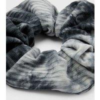 Black Tie Dye Scrunchie New Look