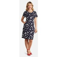 Yumi Navy Floral Pocket Dress New Look