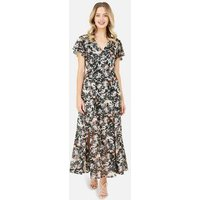 Yumi Black Floral Maxi Dress New Look