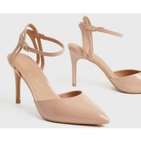 Pale Pink Patent Pointed Court Shoes New Look Vegan