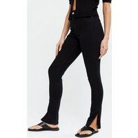 Black Split Hem High Rise Ashleigh Skinny Jeans New Look