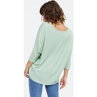2-Pack-Pale-Pink-and-Light-Green-Fine-Knit-Batwing-Tops-New-Look
