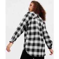 Tall Black Check Brushed Shirt New Look