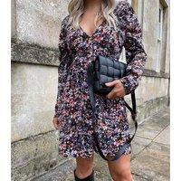 Urban Bliss Black Floral Empire Mini Dress New Look