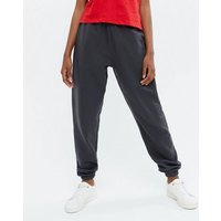 Girls 2 Pack Dark Grey and White Cuffed Joggers New Look