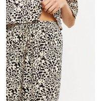 Brown Leopard Print Joggers New Look
