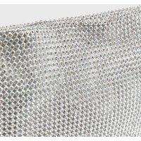 Little Mistress Silver Diamante Knot Shoulder Bag New Look