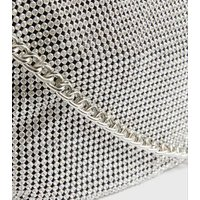 Little Mistress Silver Chainmail Shoulder Bag New Look