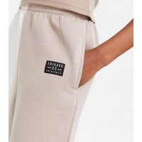 Girls Brown Colour Block Chicago Logo Joggers New Look