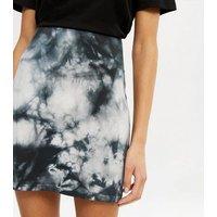 Blue Tie Dye Mini Skirt New Look