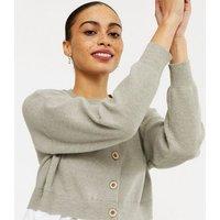 Cameo Rose Grey 2 in 1 Shirt Cardigan New Look