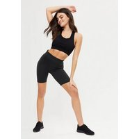 ONLY PLAY Black High Waist Sports Cycling Shorts New Look