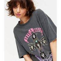 Black Guns N Roses Logo Rock T-Shirt New Look