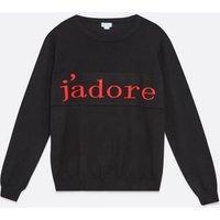 Blue Vanilla Curves Black J'Adore Logo Sweatshirt New Look