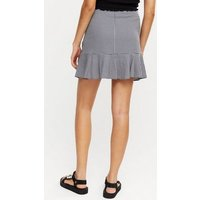 Blue Gingham Ruched Frill Mini Skirt New Look
