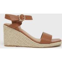 Wide Fit Tan Twist Espadrille Wedge Sandals New Look Vegan