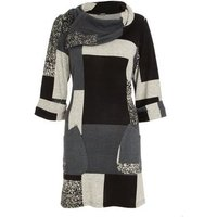 Quiz Pale Grey Patchwork Tunic Top New Look