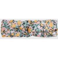 Multicoloured Floral Twist Headband New Look