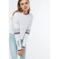 MARLi Sport White Stripe Long Sleeve Top New Look