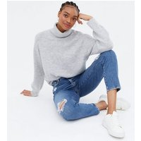 Tall Pale Grey Roll Neck Jumper New Look