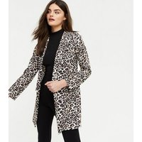 Mela Black Leopard Print Blazer New Look