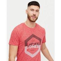 Men's Jack & Jones Red Logo T-Shirt New Look