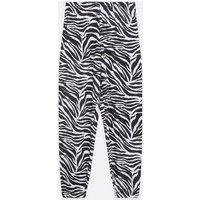 Cameo Rose Black Zebra Print Cuffed Joggers New Look